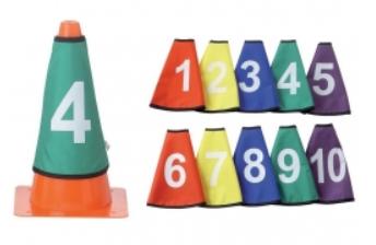 Col de cône - numérotés de 1 à 10