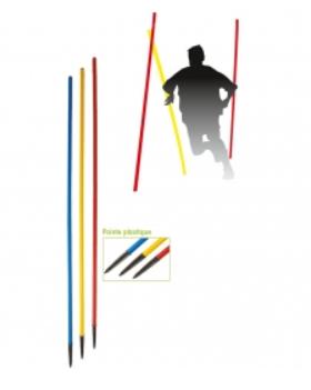 Piquet de slalom -pointe plastique