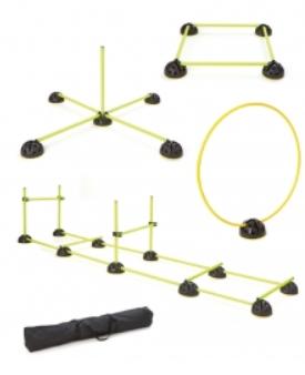 Kit d'entraînement avec 14 jalons, 10 cônes et 6 pinces