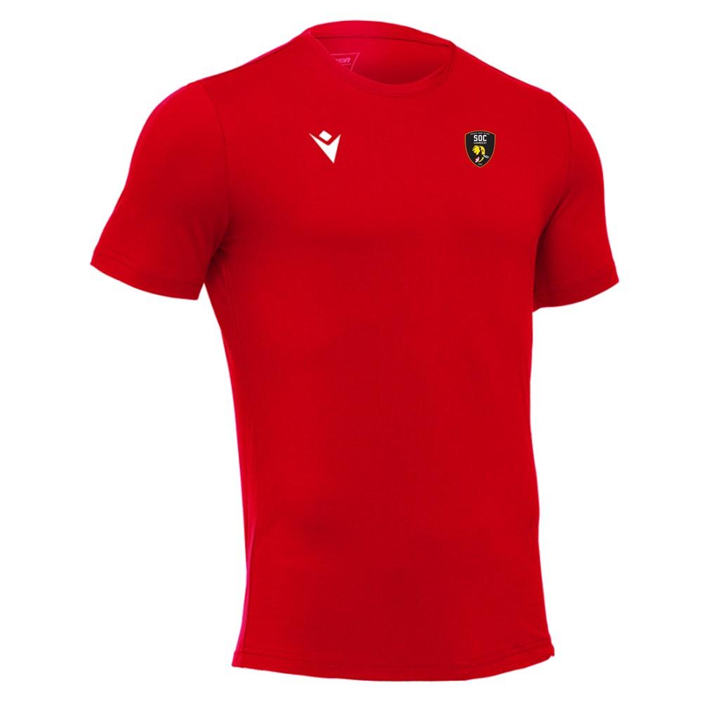 Tee shirt rouge SOC Rugby MACRON