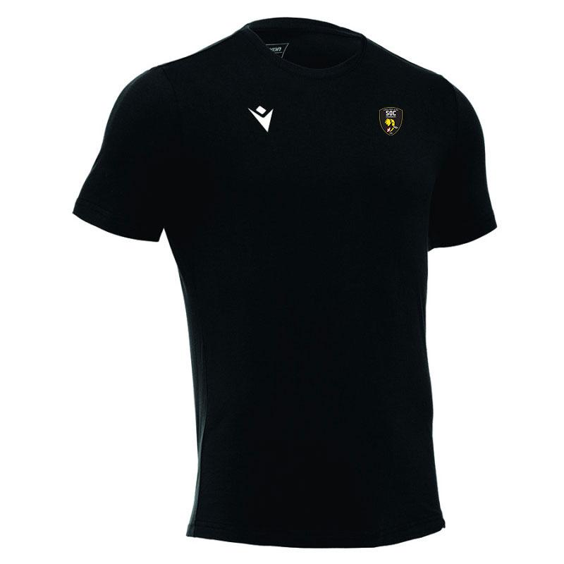 Tee shirt noir SOC Rugby MACRON