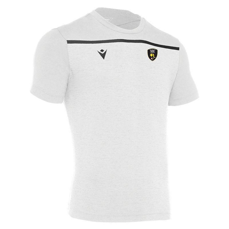 Tee shirt blanc avec bande SOC Rugby MACRON