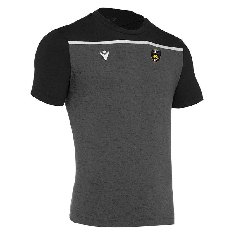 Tee shirt noir avec bande SOC Rugby MACRON